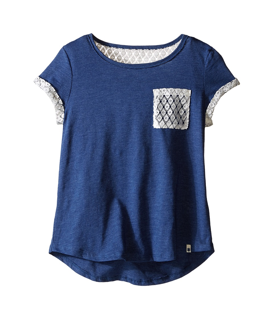 Lucky Brand Kids - Loose Fit Tunic (Big Kids) (Blue Indigo Heather) Girl