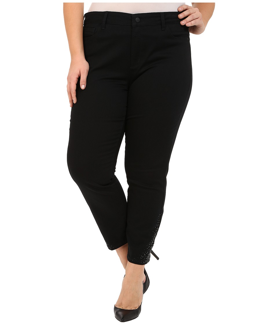 NYDJ Plus Size - Plus Size Amira Fitted Ankle in Black (Black) Women's Jeans