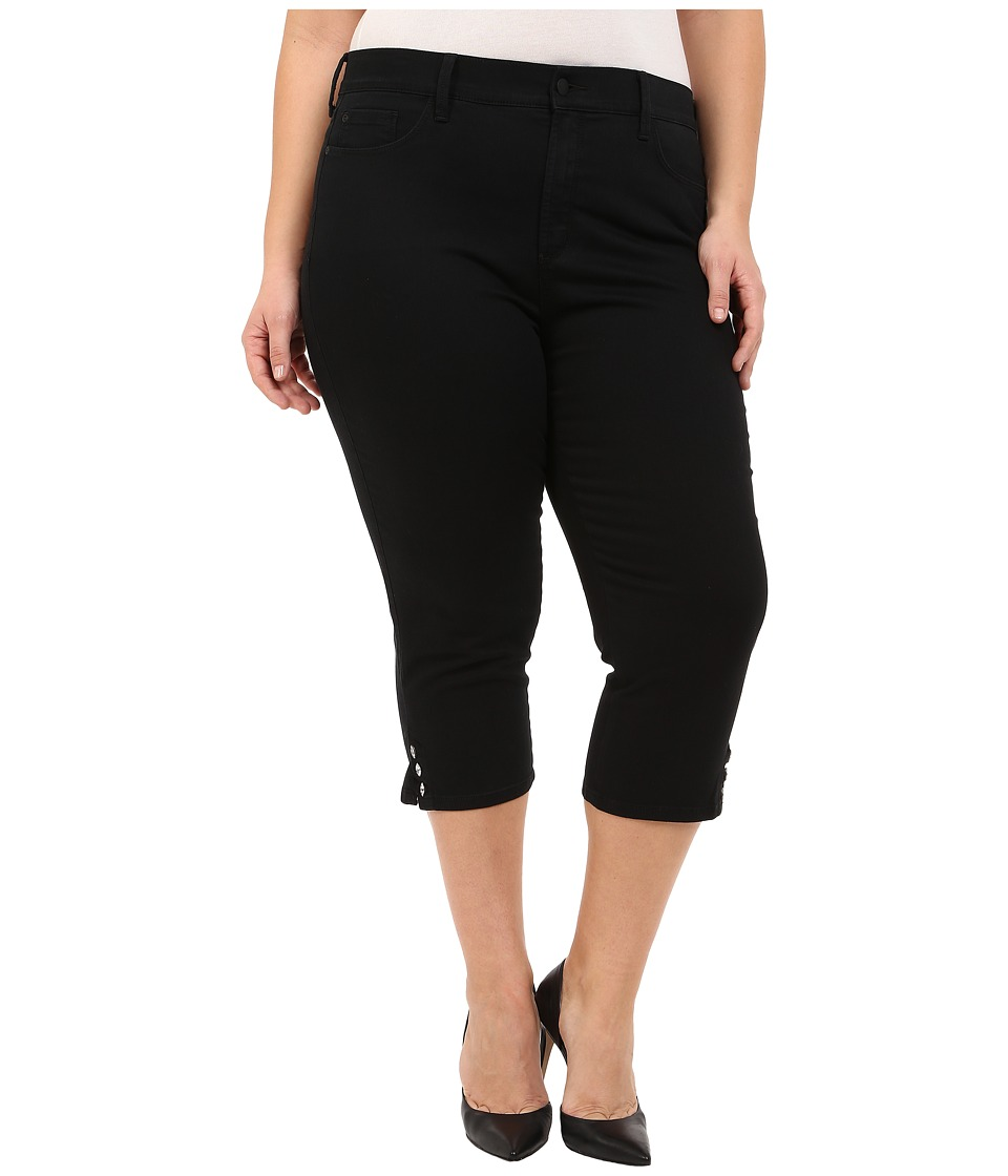 NYDJ Plus Size - Plus Size Ariel Crop in Black (Black) Women's Jeans