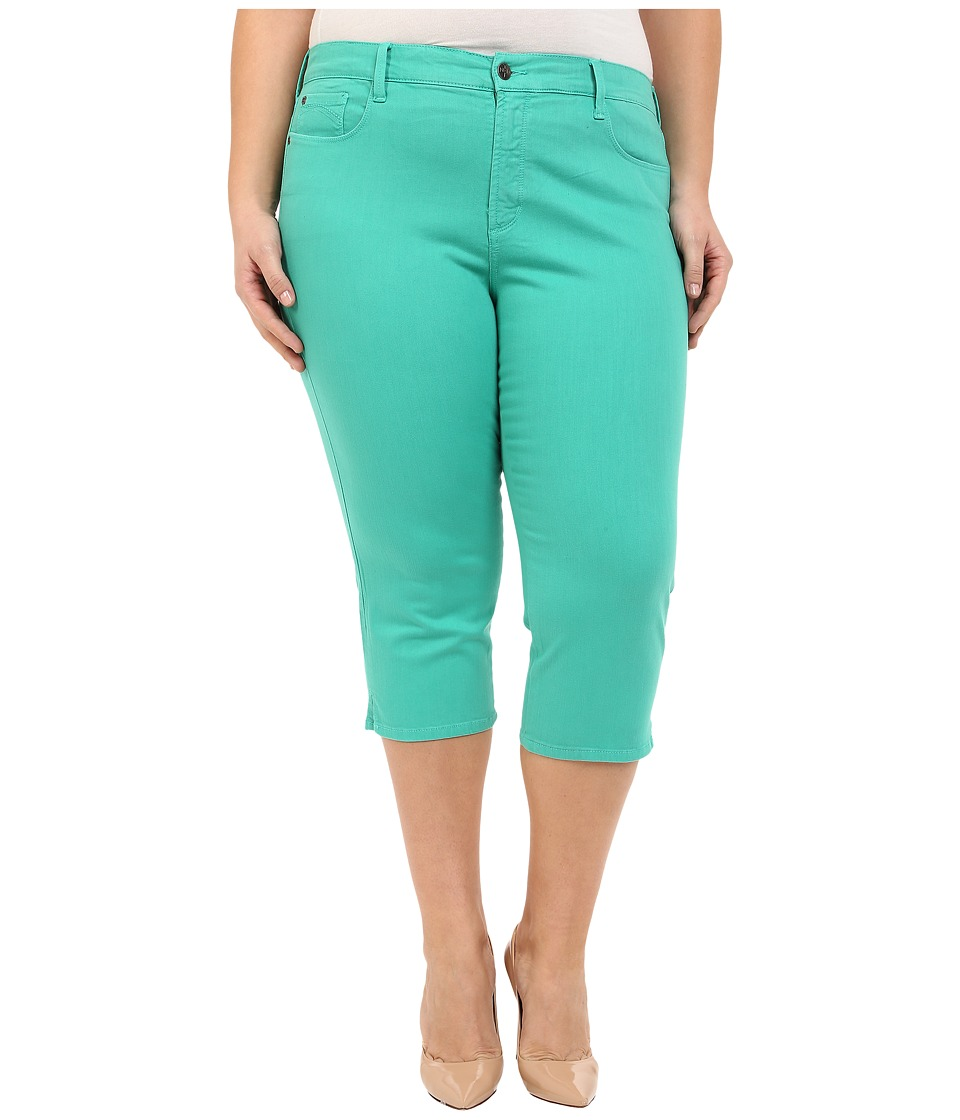 NYDJ Plus Size - Plus Size Ariel Crop in Jade Mint (Jade Mint) Women