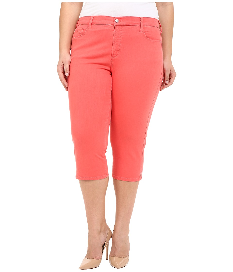 NYDJ Plus Size - Plus Size Ariel Crop in Coral Branch (Coral Branch) Women's Jeans