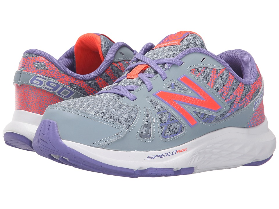 New Balance Kids - 690v4 (Little Kid/Big Kid) (Grey/Orange) Girls Shoes