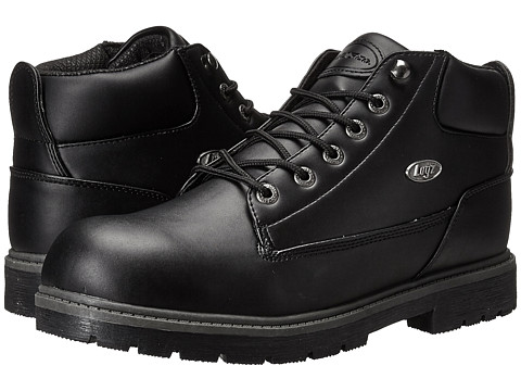 Lugz - Warrant Mid (Black Smooth) Men's Shoes