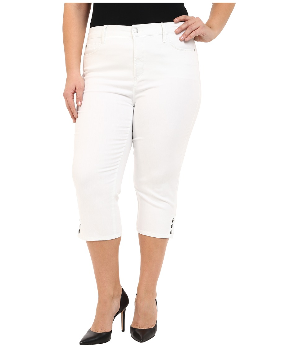 NYDJ Plus Size - Plus Size Ariel Crop in Optic White (Optic White) Women's Jeans