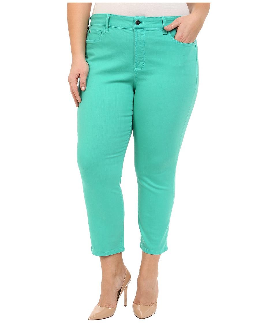 NYDJ Plus Size - Plus Size Ira Slim Ankle in Jade Mint (Jade Mint) Women's Jeans
