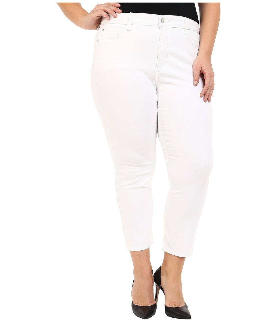 NYDJ Plus Size Plus Size Ira Slim Ankle in Optic White (Optic White) Women