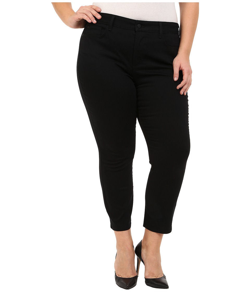 NYDJ Plus Size Plus Size Ira Slim Ankle in Black (Black) Women