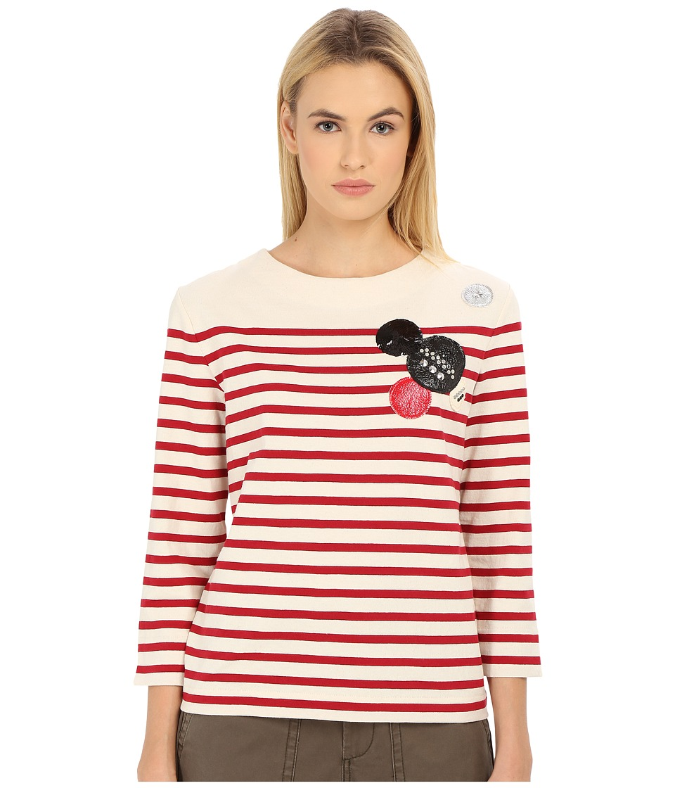 Marc by Marc Jacobs - Breton Stripe Top (Breton Red Multi) Women's T Shirt