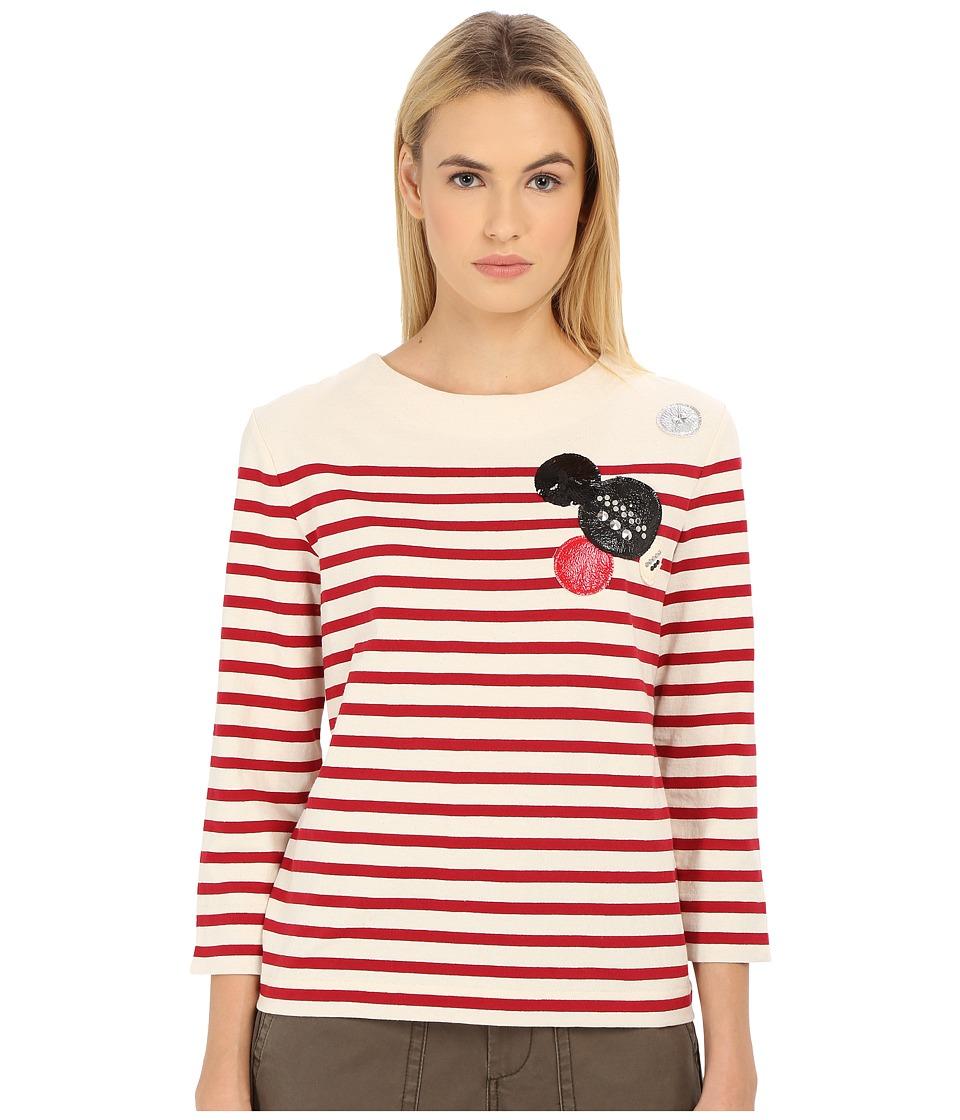 Marc by Marc Jacobs - Breton Stripe Top (Breton Red Multi) Women's T Shirt