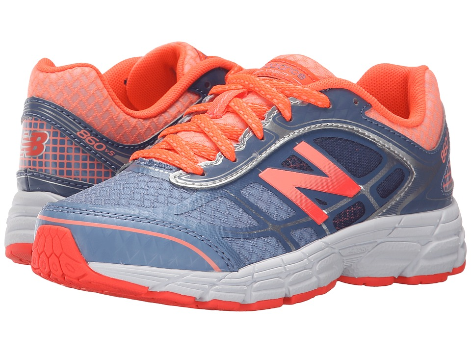 New Balance Kids - 860v5 (Little Kid/Big Kid) (Grey/Orange) Girls Shoes