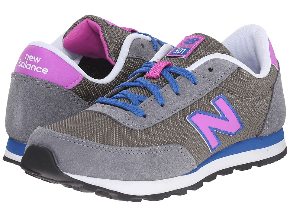 New Balance Kids - 501 (Little Kid/Big Kid) (Grey) Girls Shoes