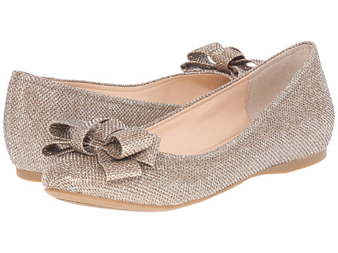 Jessica Simpson - Mugara (Gold Sparkle Mesh) Women's Flat Shoes