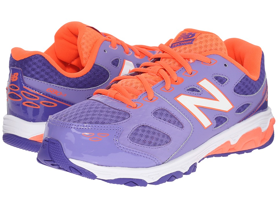 New Balance Kids KR680 (Little Kid/Big Kid) (Purple/Orange) Girls Shoes