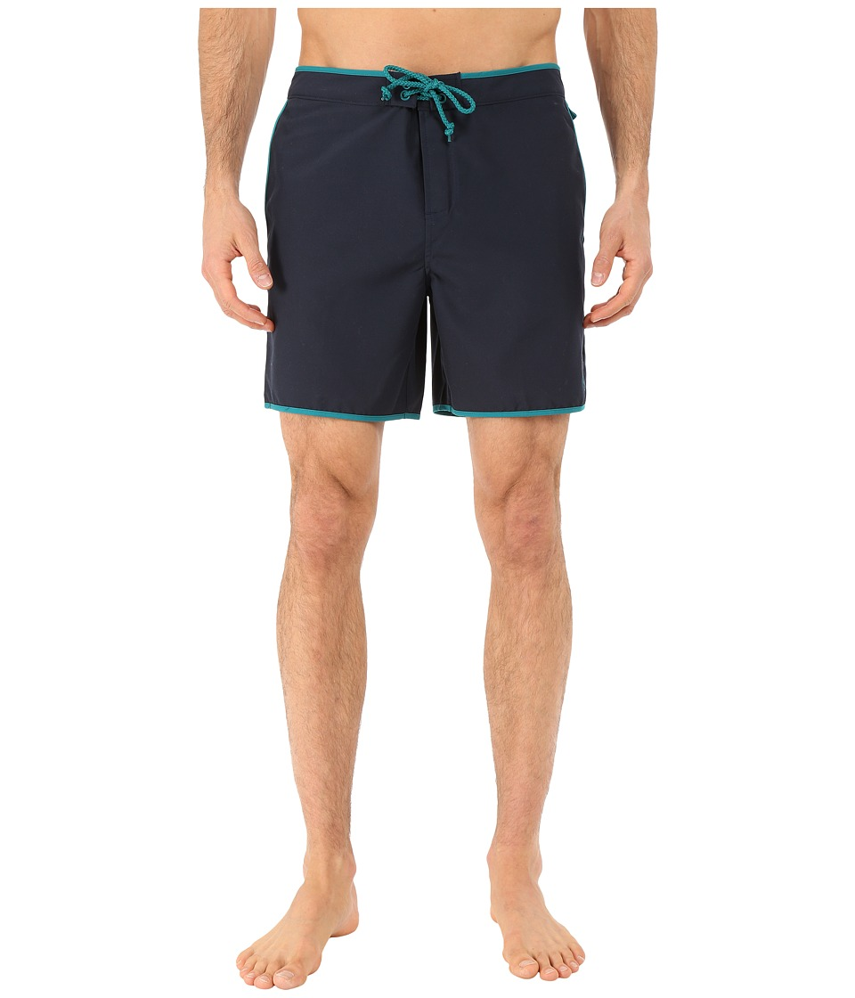 Original Penguin - Earl Fixed Volley Shorts (Dark Sapphire) Men's Swimwear