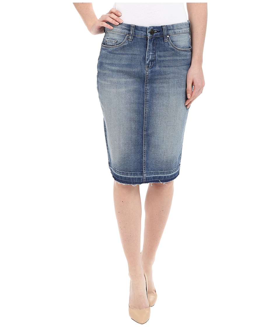 Blank NYC - Denim Released Hem Pencil Skirt in Bump and Run (Bump/Run) Women's Skirt