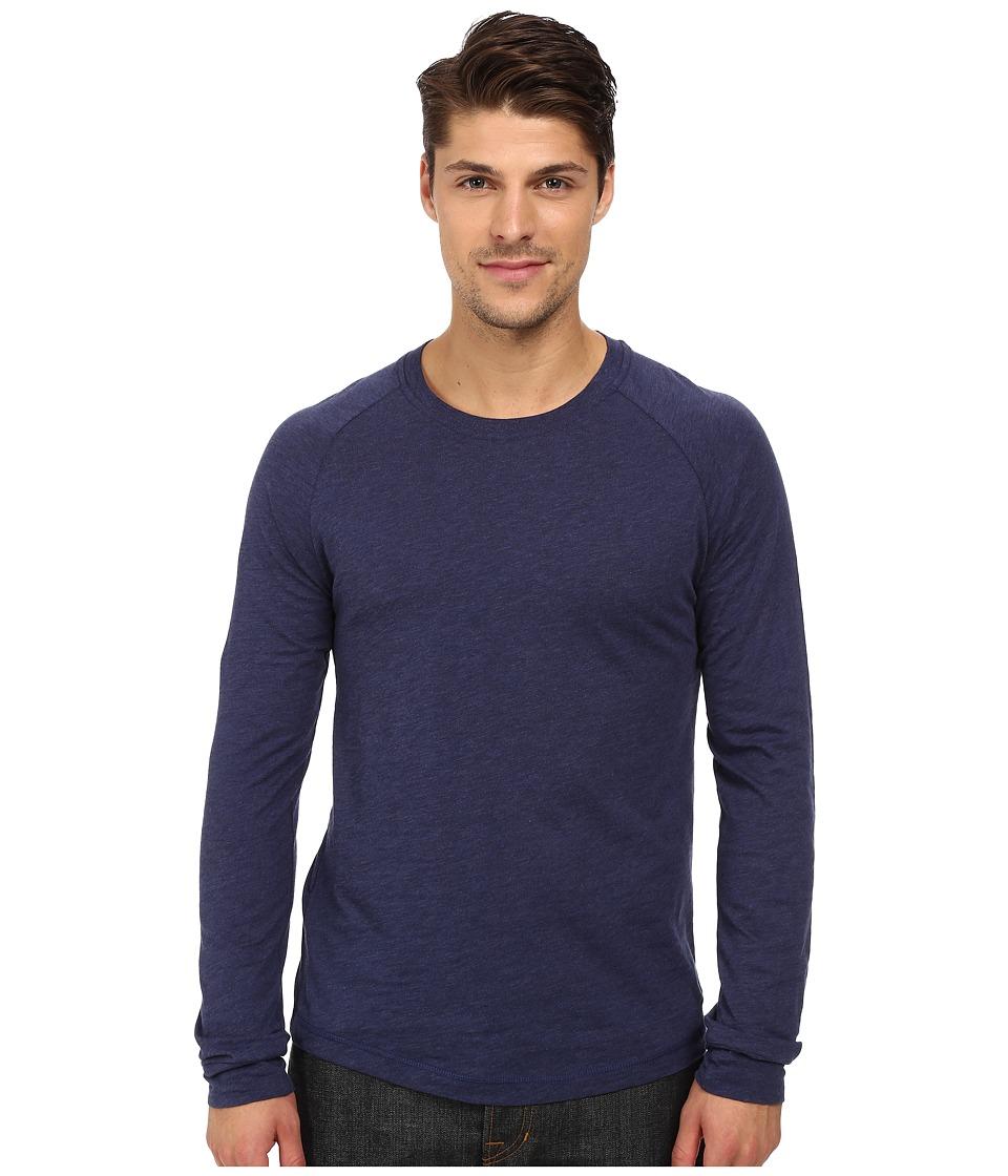 Original Penguin - New Bada Long Sleeve Heritage (Medieval Blue) Men's Clothing