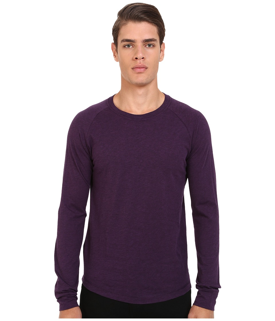 Original Penguin - New Bada Long Sleeve Heritage (Purple Pennant) Men's Clothing