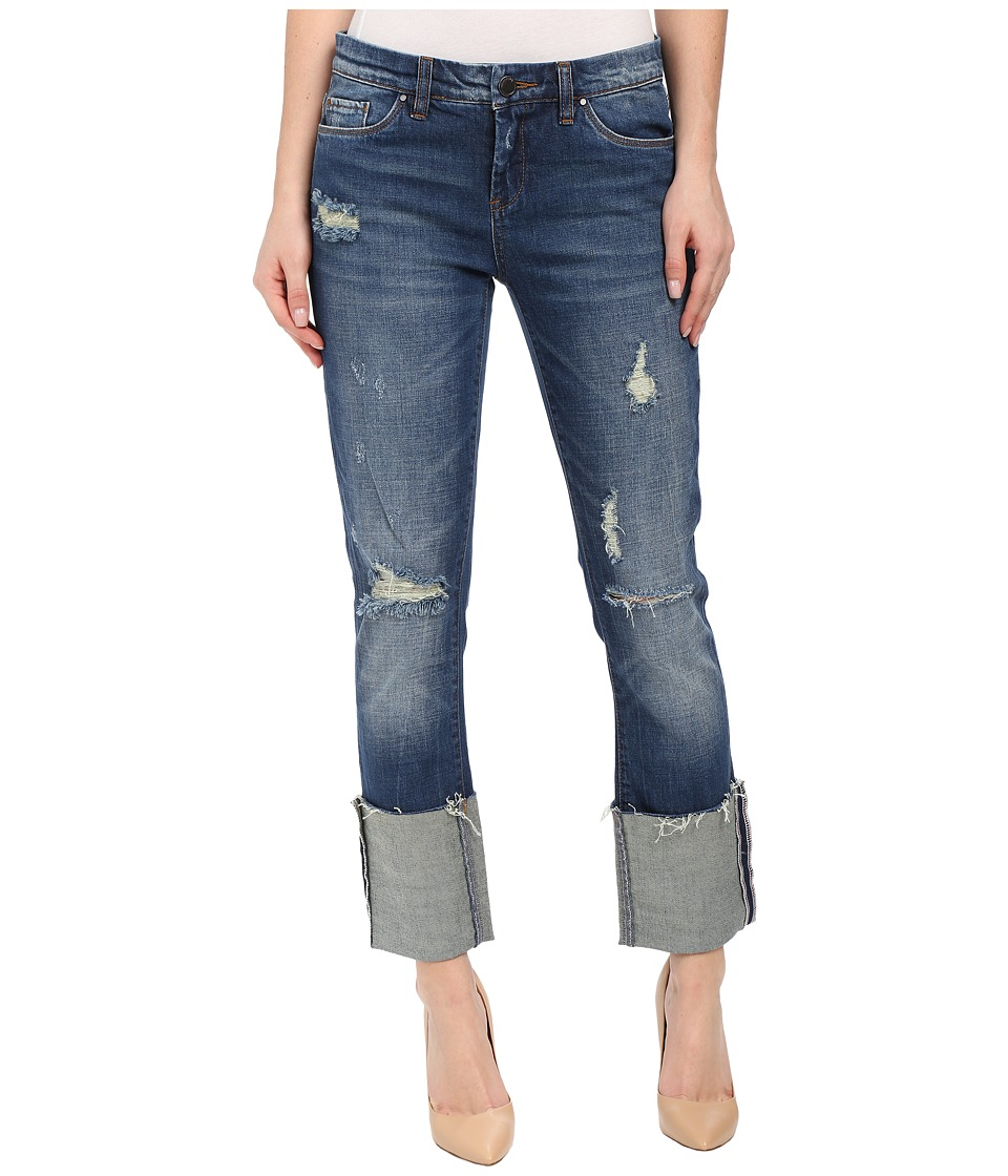 Blank NYC - Cuffed Denim Ripped Jeans in Shoot and Score (Shoot/Score) Women
