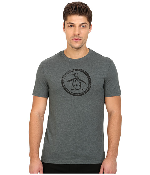 Original Penguin - Triblend Distressed Circle Logo Tee (Urban Chic) Men's T Shirt