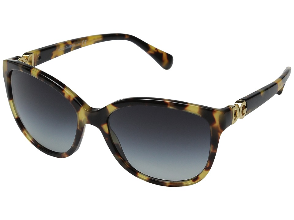 Dolce & Gabbana - 0DG4258 (Cubed Havana/Grey Gradient) Fashion Sunglasses