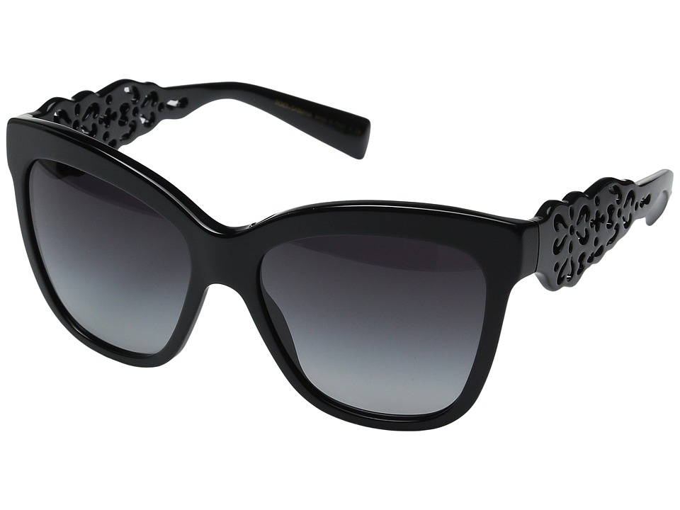Dolce & Gabbana - 0DG4264 (Shiny Black/Grey Gradient) Fashion Sunglasses