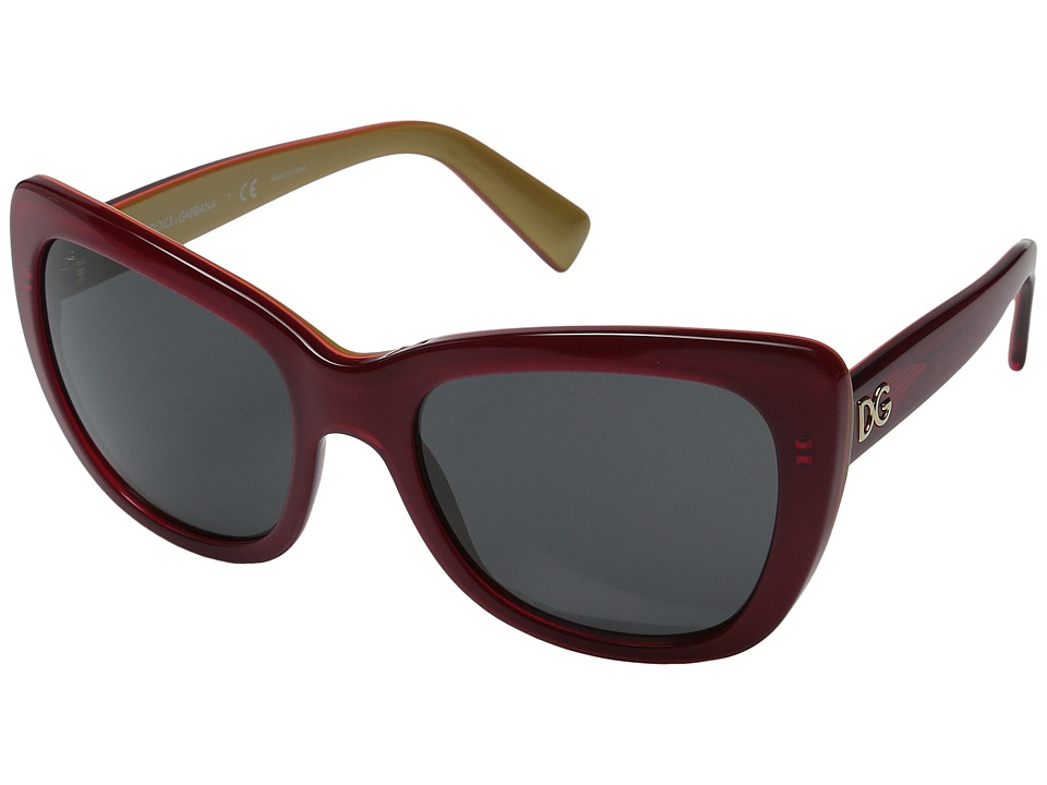 Dolce & Gabbana - 0DG4260 (Top Red Over Gold/Dark Grey) Fashion Sunglasses