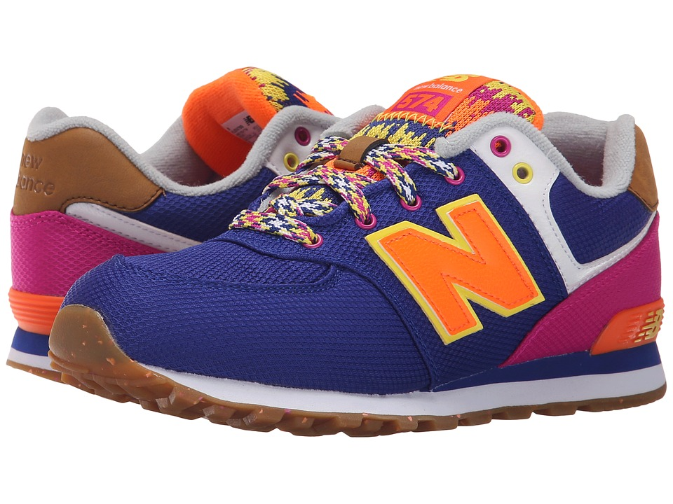 New Balance Kids - KL574 (Big Kid) (Purple/Pink) Girls Shoes