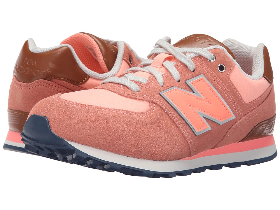 New Balance Kids - KL574 (Big Kid) (Pink 1) Girls Shoes