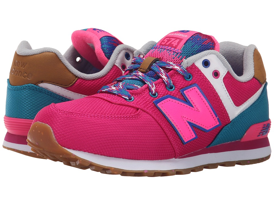 New Balance Kids - KL574 (Big Kid) (Pink/Blue 1) Girls Shoes