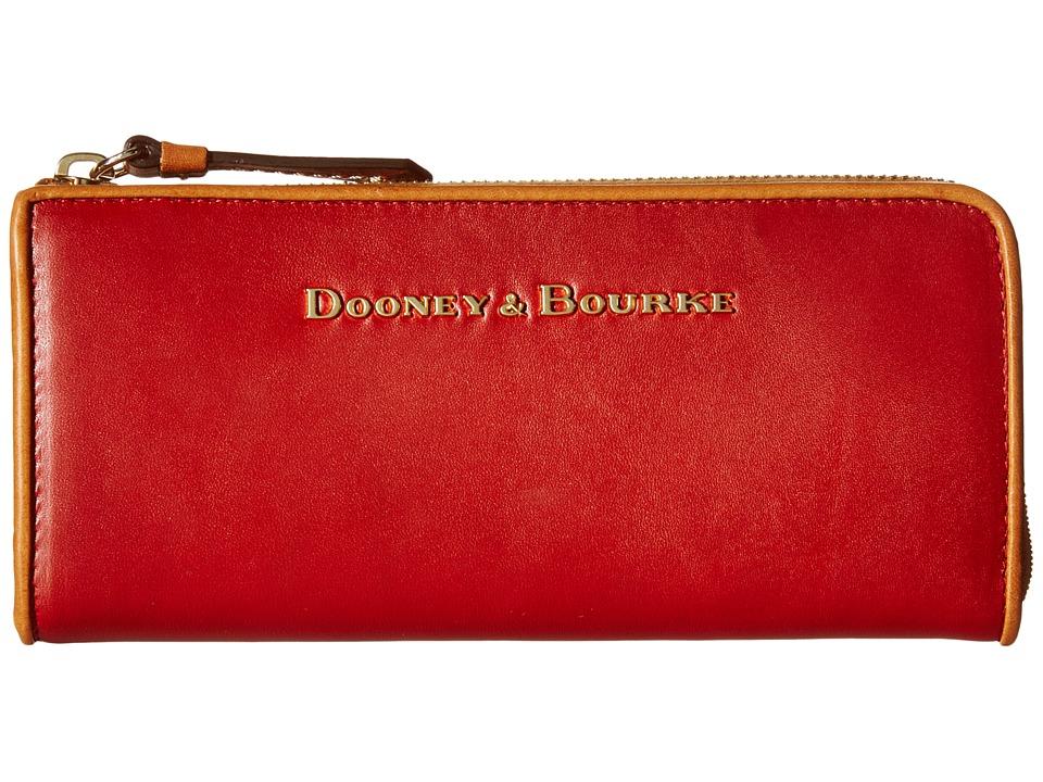 Dooney & Bourke - City Zip Clutch (Burnt Orange/Natural Trim) Clutch Handbags