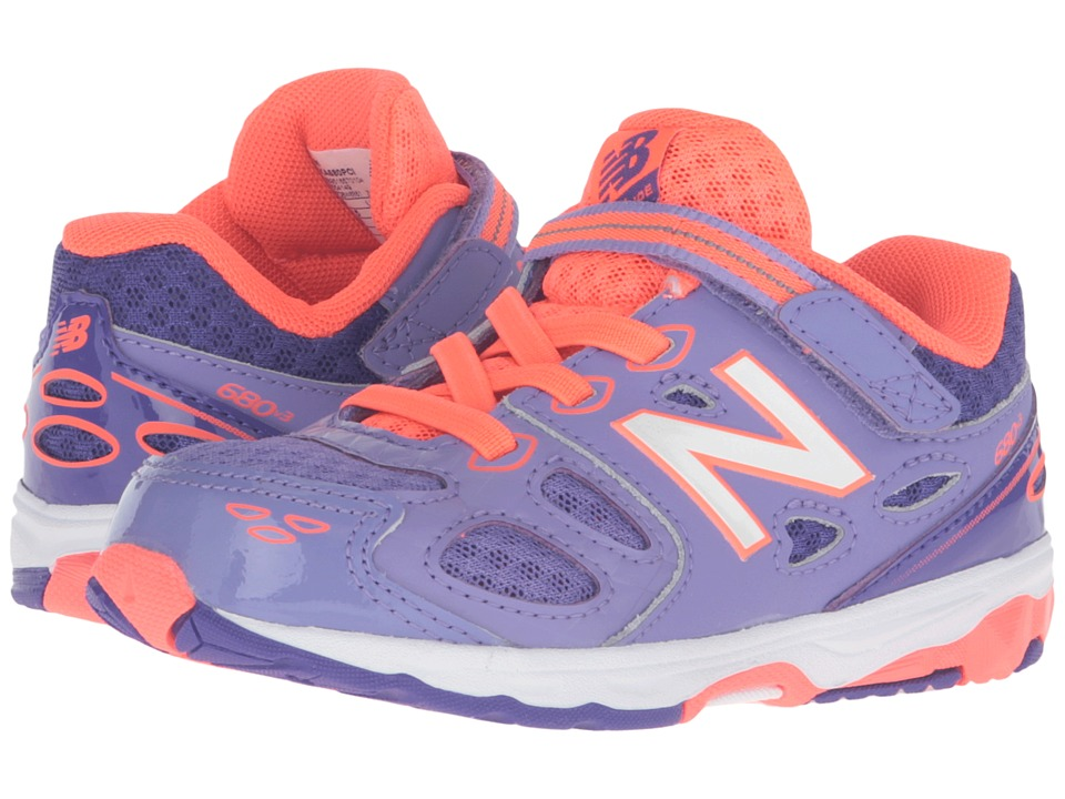 New Balance Kids - KA680 (Infant/Toddler) (Purple/Orange) Girls Shoes