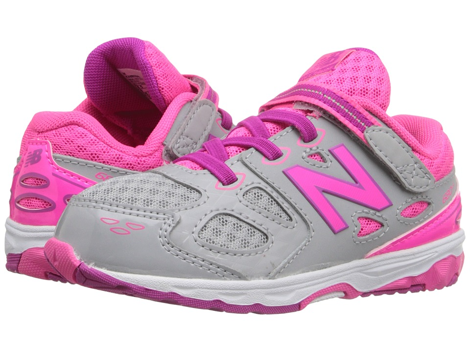 New Balance Kids - KA680 (Infant/Toddler) (Grey/Pink) Girls Shoes