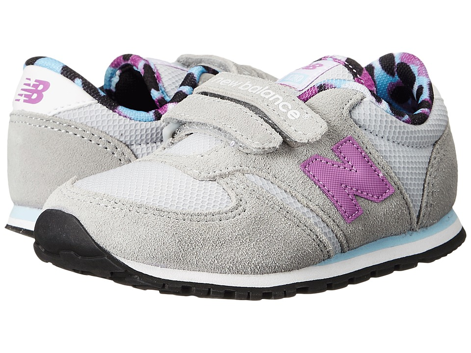 New Balance Kids - Classics 420 (Infant/Toddler) (Grey/Purple) Girls Shoes