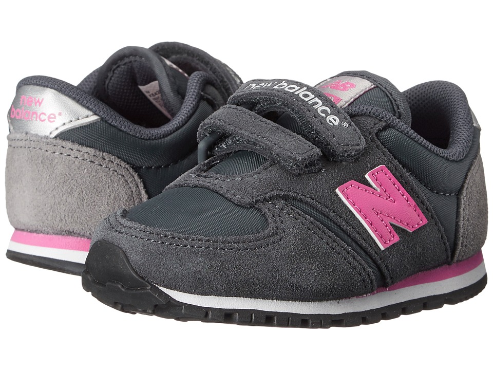 New Balance Kids - Classics 420 (Infant/Toddler) (Grey/Pink 1) Girls Shoes