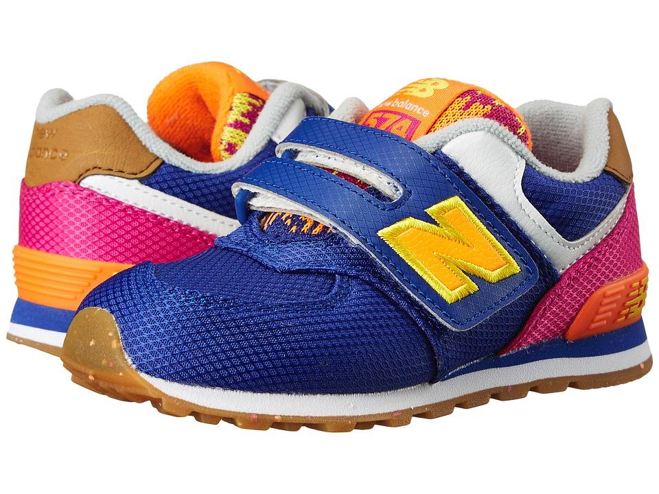 New Balance Kids - KG574 (Infant/Toddler) (Purple/Pink) Girls Shoes