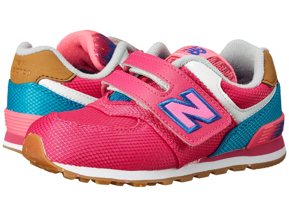 New Balance Kids - KG574 (Infant/Toddler) (Pink/Blue) Girls Shoes
