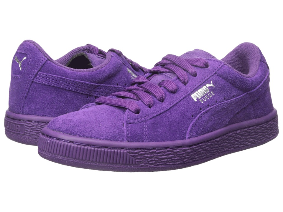Puma Kids - Suede Jr (Little Kid/Big Kid) (Imperial Purple/Imperial Purple) Kids Shoes