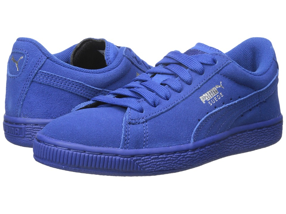 Puma Kids - Suede Jr (Little Kid/Big Kid) (Monaco Blue/Monaco Blue) Kids Shoes