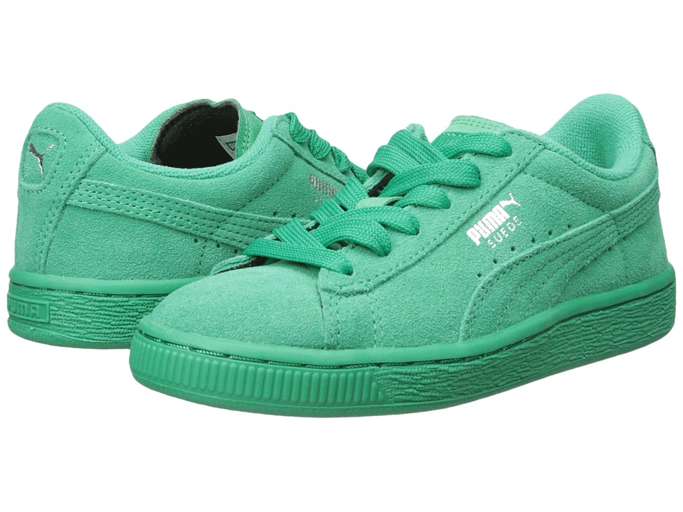 Puma Kids - Suede Jr (Little Kid/Big Kid) (Simply Green/Simply Green) Kids Shoes