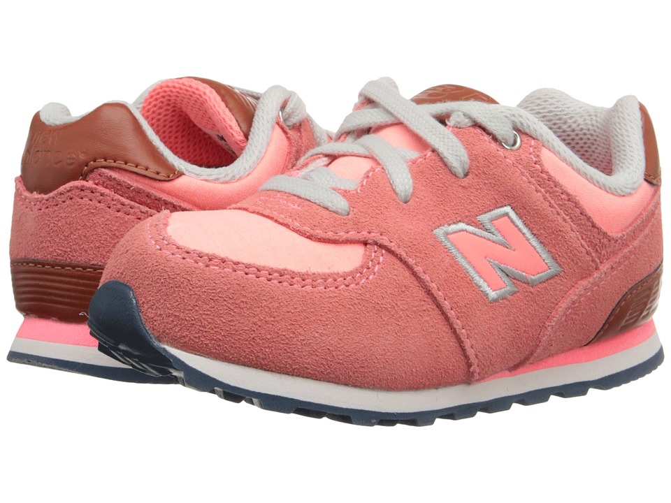 New Balance Kids - KL574 (Infant/Toddler) (Pink 1) Girls Shoes