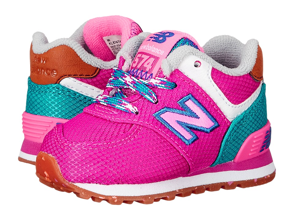New Balance Kids - KL574 (Infant/Toddler) (Pink/Blue 1) Girls Shoes
