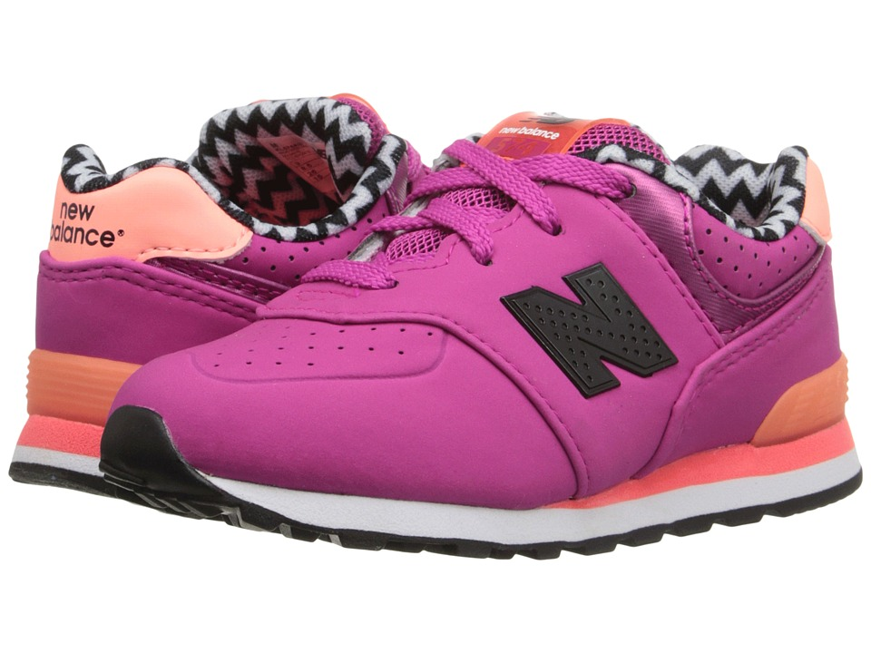 New Balance Kids - KL574 (Infant/Toddler) (Pink 2) Girls Shoes