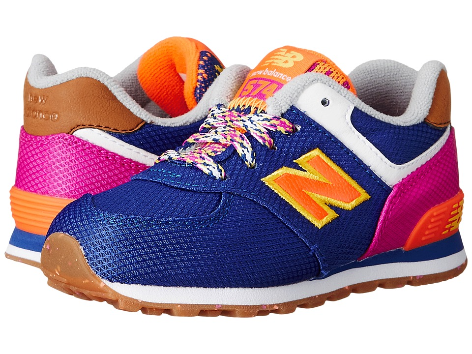 New Balance Kids - KL574 (Infant/Toddler) (Purple/Pink) Girls Shoes