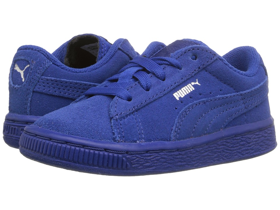 Puma Kids - Suede Classic (Toddler/Little Kid/Big Kid) (Monaco Blue/Monaco Blue) Kids Shoes