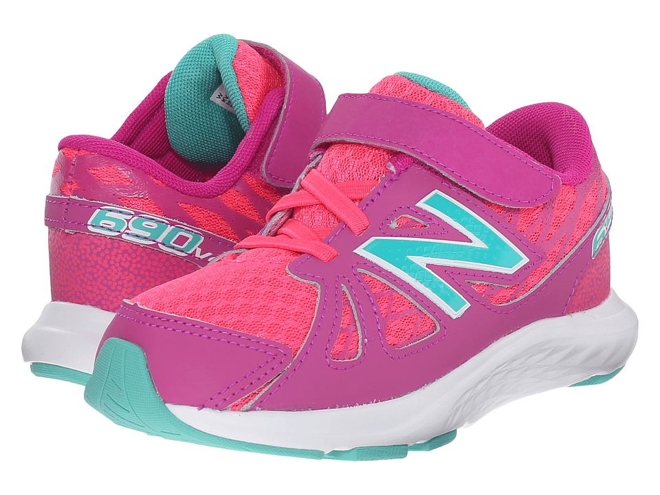 New Balance Kids - 690v4 (Infant/Toddler) (Pink/Green) Girls Shoes