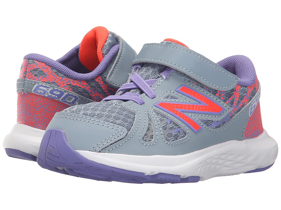 New Balance Kids - 690v4 (Infant/Toddler) (Grey/Orange) Girls Shoes