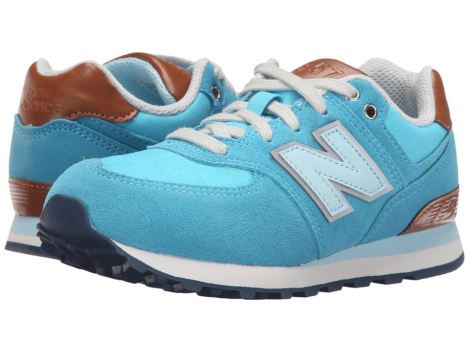 New Balance Kids - KL574 (Little Kid) (Admiral Blue) Girls Shoes