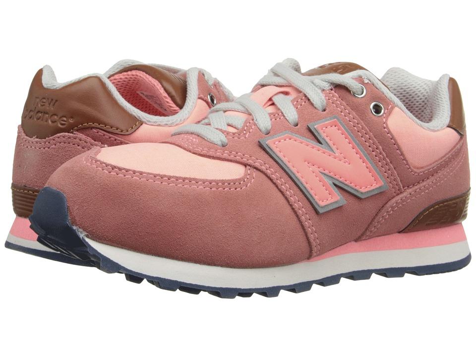 New Balance Kids - KL574 (Little Kid) (Pink 1) Girls Shoes