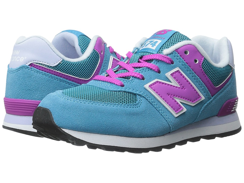 New Balance Kids - KL574 (Little Kid) (Blue/Pink) Girls Shoes
