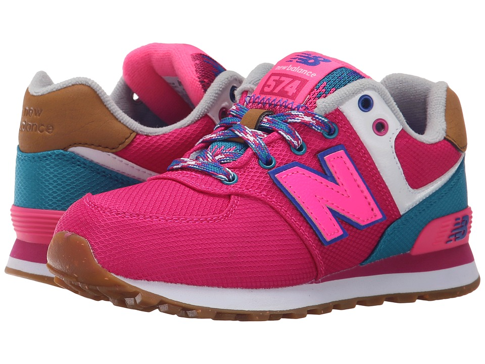 New Balance Kids - KL574 (Little Kid) (Pink/Blue 1) Girls Shoes